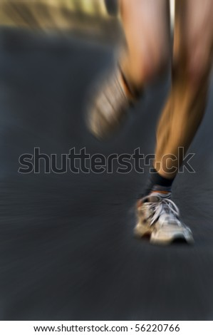 legs of a marathon runner - stock photo