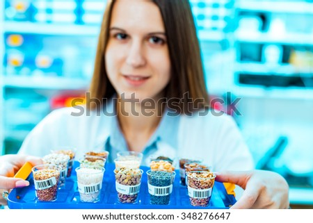 Legume with Wheat genetically modified, - stock photo
