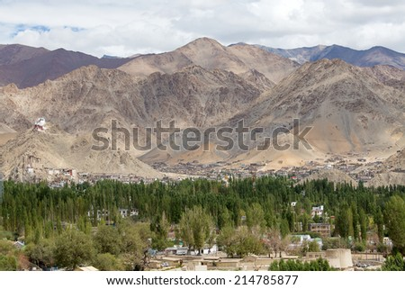 Leh, Ladakh, India - stock photo