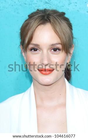 Leighton Meester at the 2012 MTV Movie Awards Arrivals, Gibson Amphitheater, Universal City, CA 06-03-12 - stock photo