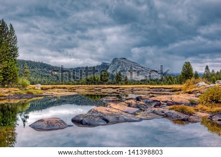 Lembert Dome and Tuolumne Meadows, Yosemite National Park, California - stock photo