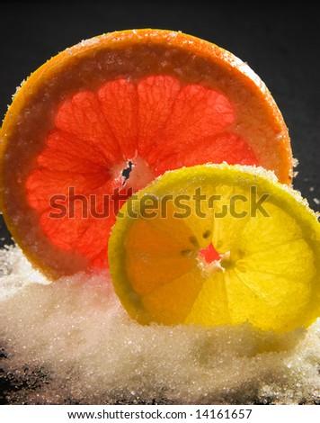 Lemon and grapefruit - stock photo