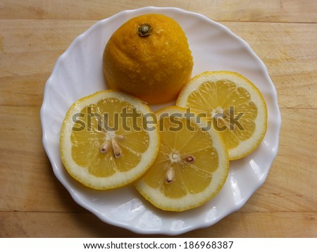 Lemon Close-View - stock photo