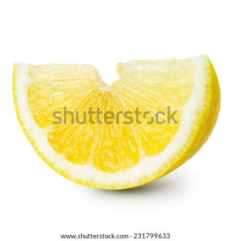 lemon isolated. Clipping Path - stock photo