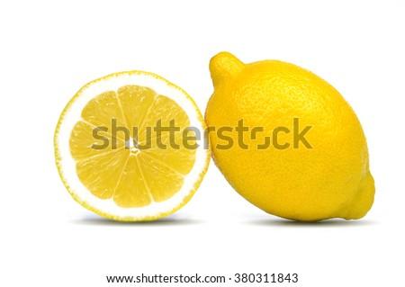 Lemon isolated on white - stock photo