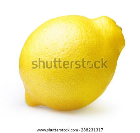 Lemon isolated on white background. - stock photo