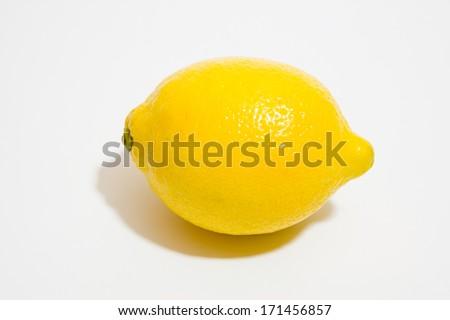 Lemon on white background - stock photo