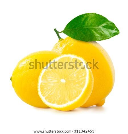 Lemon over white background - stock photo