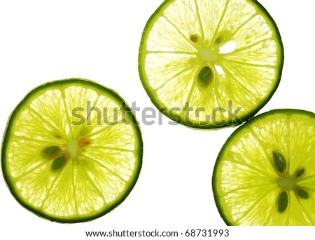 lemon section closeup - stock photo