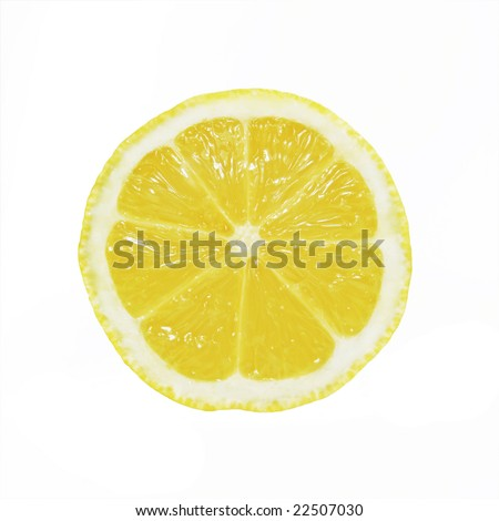 Lemon Slice - stock photo