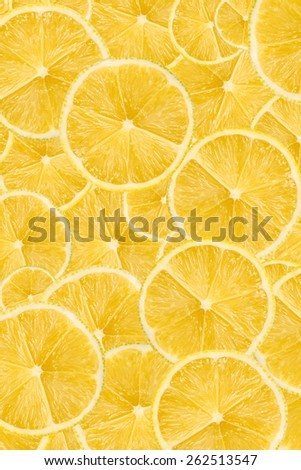 Lemon Slice Abstract Seamless Pattern - stock photo