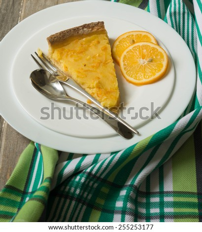 lemon tarte - stock photo