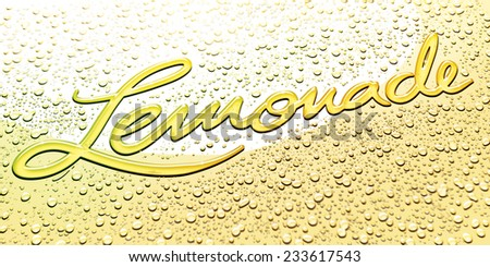 Lemonade Logotype - stock photo