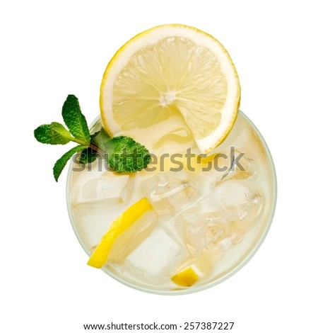 Lemonade, top view - stock photo
