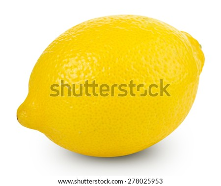 Lemons isolated on white background Clipping Path - stock photo