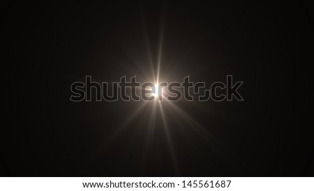 lens flare effect  - stock photo