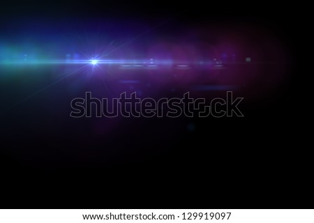 Lens flare effect in  space made with AE cs5 - stock photo