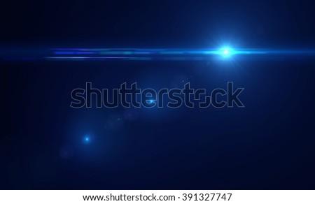 Lens flare light - stock photo