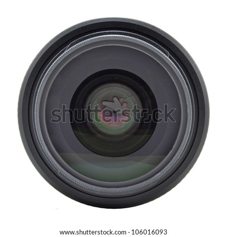 lens for the dslr camera on a white background - stock photo