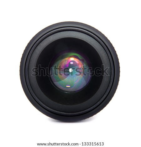 lens isolated on a white background - stock photo