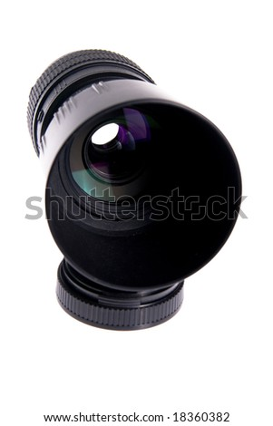 Lens isolated on white background - stock photo