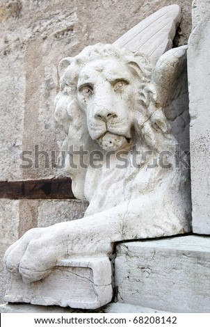 Leone di San Marco, Winged lion of St. Mark - stock photo