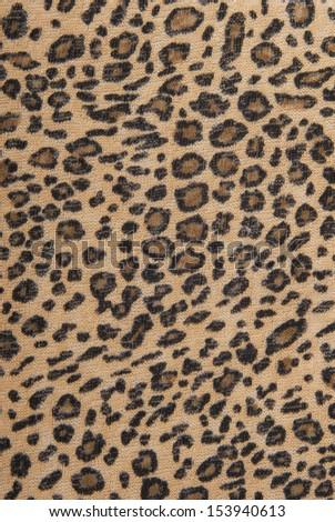 leopard fabric texture - stock photo