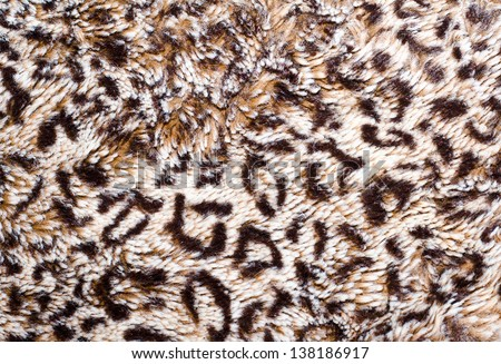 Leopard skin pattern blanket - stock photo
