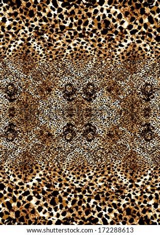 Leopard skin print - stock photo
