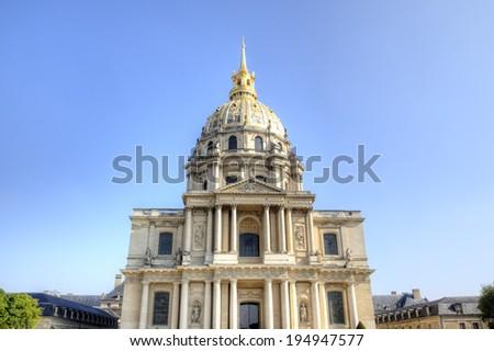 Les Invalides. Paris, France - stock photo