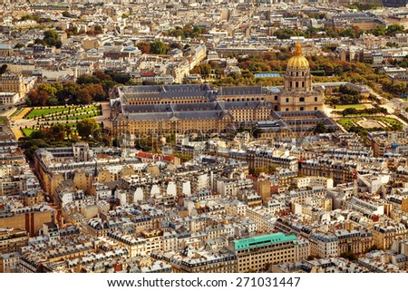 Les Invalides (The National Residence of the Invalids), Paris, France. - stock photo