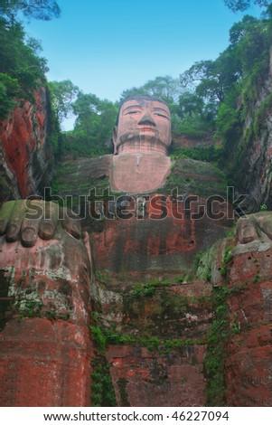 Leshan Giant Buddha, Sichuan, China - stock photo