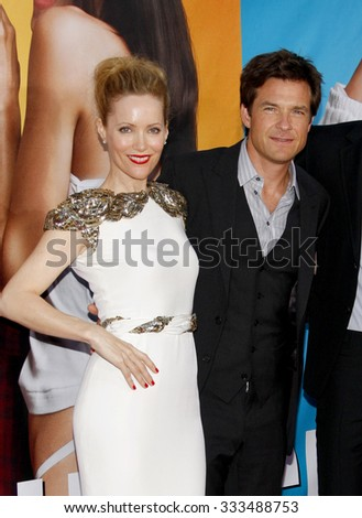 """Leslie Mann and Jason Bateman at the Los Angeles Premiere of """"The Change-Up"""" held at the Westwood Village Theater in Los Angeles, California, USA on August 1, 2011.   - stock photo"""