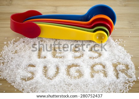 Less sugar conceptual - stock photo