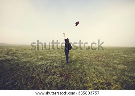 Let go. - stock photo