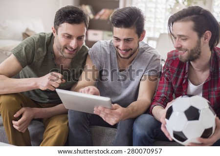 Let's check results of the last match - stock photo
