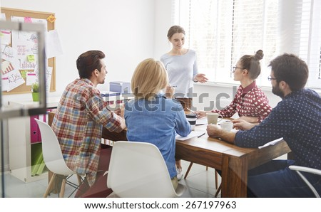 Let's discuss our strategy for next months - stock photo