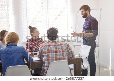 Let's discuss strategies our company  - stock photo