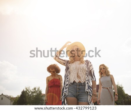 Let's the festival begin now - stock photo