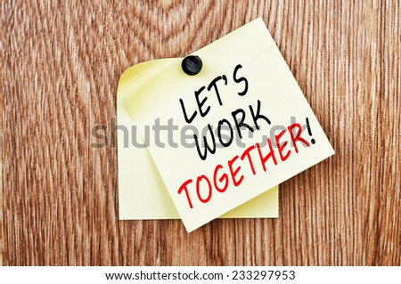 Let's work together! - stock photo
