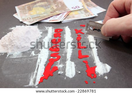 let there be less deaths from drugs - stock photo