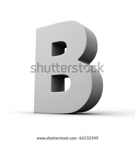 Letter B from solid alphabet. There is a clipping path - stock photo
