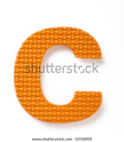Letter C isolated on the white background - stock photo