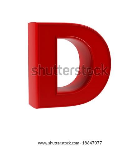 letter D - stock photo