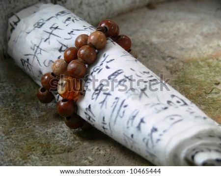 Letter for god in the Buddhist temple, - stock photo