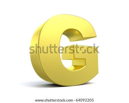 letter G from my golden collection - stock photo