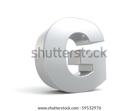 letter G in metal - stock photo