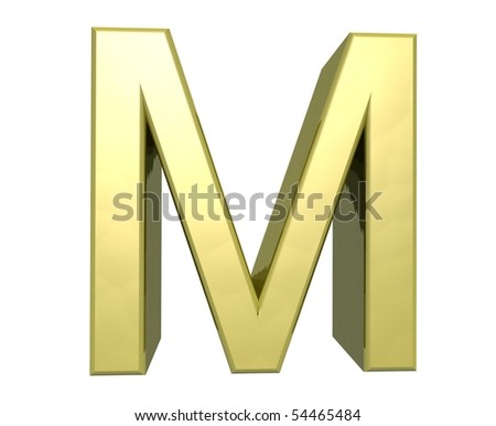 letter M - stock photo