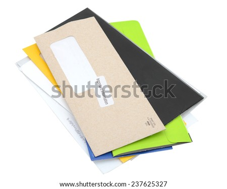 Letter mails collection  - stock photo