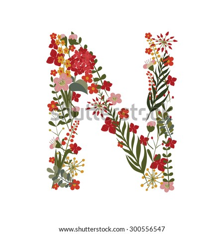 S Alphabet In Flowers Alphabet Flower N Stock Photos, Images, & Pictures | Shutterstock